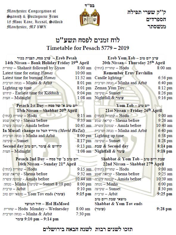 Newsletter Parashat Nitzavim – Shabbat Hagadol | Moor Lane - ק